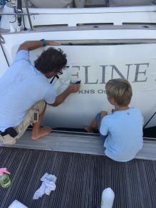 Farfar hadde med navnet til båten!